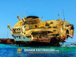 Snorkelling around the boat wreck at Tiran Island